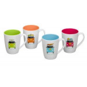 CHD 6025 Set of 4 Camper Smiles Mugs